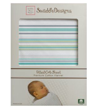 Amazon.com: SwaddleDesigns Jewel Tone Striped Fitted Crib Sheet, Turquoise: Baby