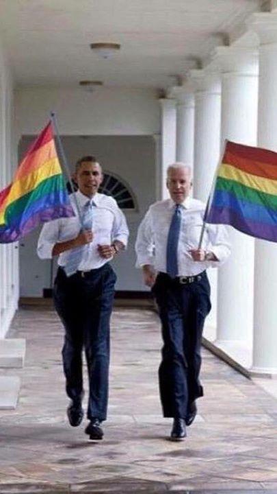 President Barack Obama & Vice President Joe Biden #Love #Equality ----I had to pin it, it's adorable.