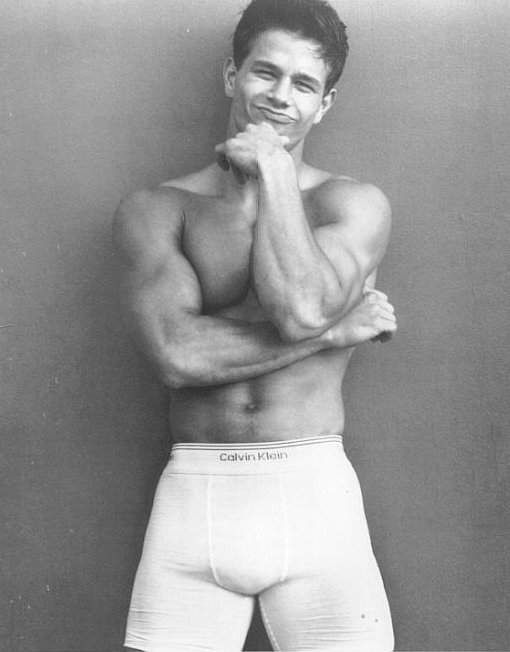 Mark Wahlberg. ~back in his younger days in his Calvin's