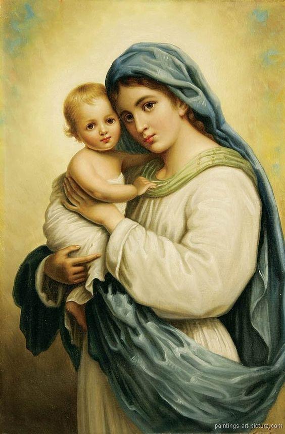 Virgen y El Niño.