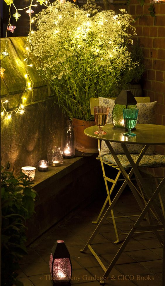 Cozy corner lighting three dogs in a garden small space gardens urban decks patios - Garden small space minimalist ...