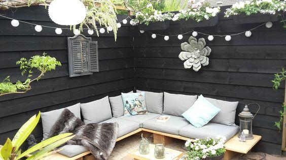 Loungebank! Prachtig gemaakt door Remco Hoveniersbedrijf Leusden