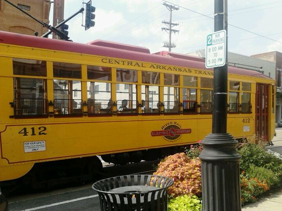 Street Trolley in action in Argenta Arts District, North Little Rock, AR