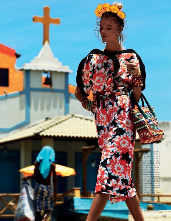 Influence and Stardoll: Editorial ♥ || Ill be at the beach: Magdalena Frackowiak for Vogue Japan April 2013 by Giampaolo Sgura: