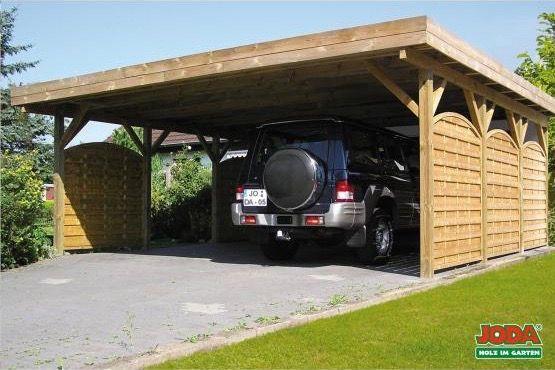 Doppelcarport Mit Flachdach Breites Freitragendes Massivholz Carport Mit Flachdach Modernes Doppelcarport Modell Mit Holzblen Doppelcarport Carport Flachdach
