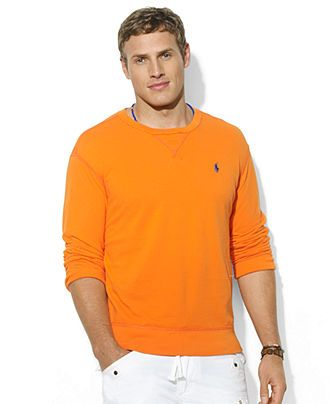 Polo Ralph Lauren Big And Tall T Shirt Crew Neck Long