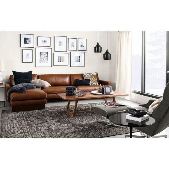 Sofa da bò làm đẹp phòng khách