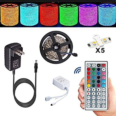 Led Strip Topmax 5050 16 4ft 5m Rgb Led Strips Lighting Kit Led Strip Lights 12v 3a Charger Power Supply Bu Led Strip Lighting Strip Lighting Led Tape Lighting
