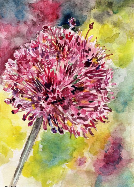 Watercolor Aquarelle Fleur Voicivoila Aquarelle Papier