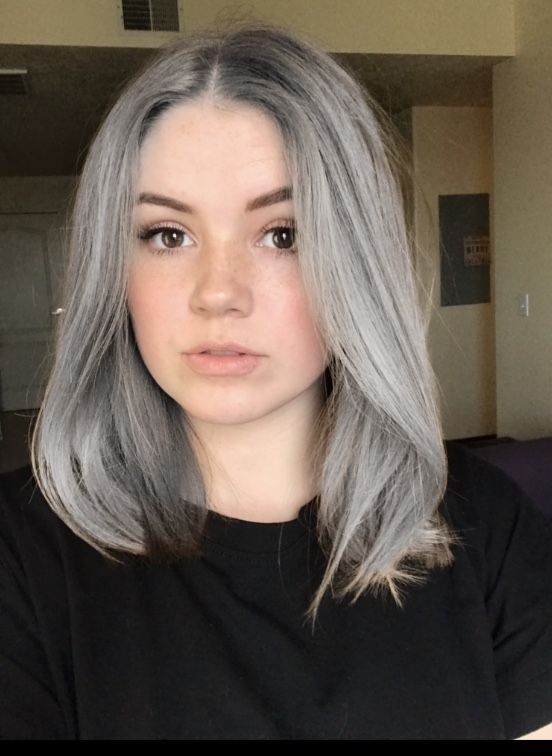 Hairdare Color Grey With Images Dyed Hair Grey Hair Color