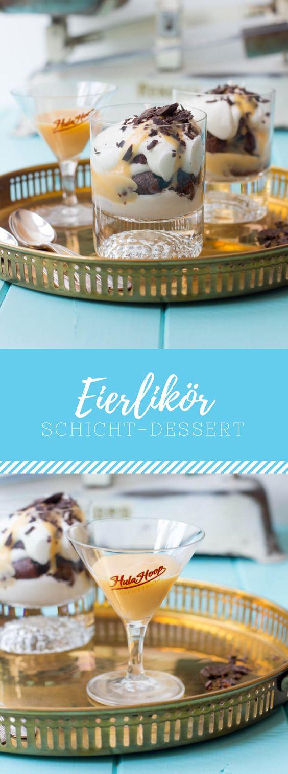 Eierlikör Schicht-Dessert mit Hula Hoop!