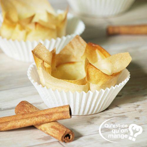 Des petits flans en feuille de brick pour un mini dessert gourmand et bien frais recette ici - Recette de mini dessert gourmand ...