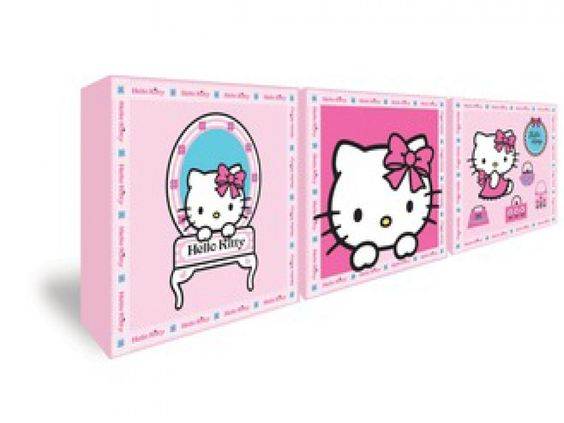 Hello Kitty Set of 3 Canvases | Wall Art from FADS#FADSBagabed