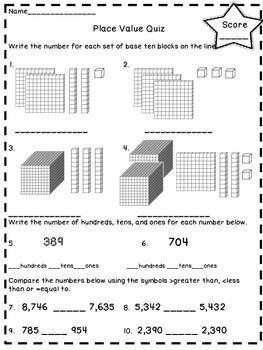 Test your students with this 20 question quiz on place value to ...