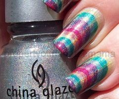 This nail design is so groovy and fun! It would look fabulous on our Fashion-length custom-fit nails! Go to http://www.customnailsolutions.com/ to see all of the lengths and styles.