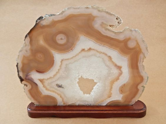 Geode Slice, Crystal Stone Sculpture