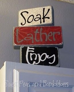 way cute for a bathroom, or change the words for different decorations #decorations #bathroom