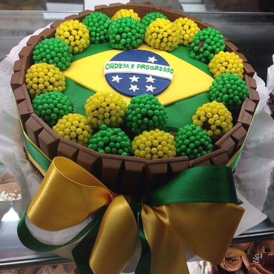 Copa do mundo Brasil bolo