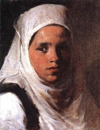 el Κορίτσι με μαντίλ English: Girl with scarf by Périclès Pantazis