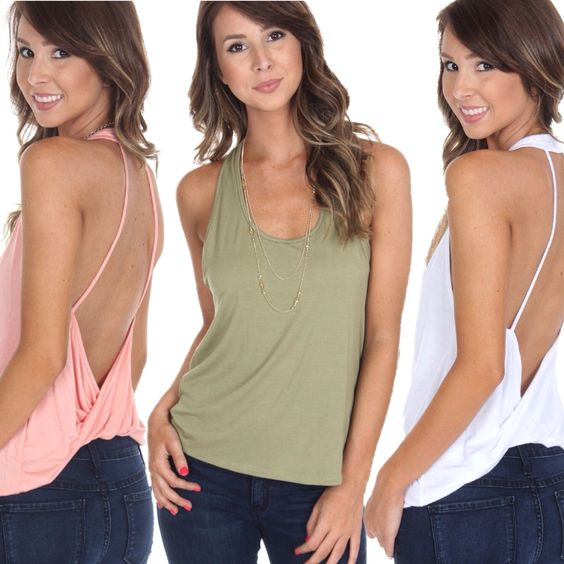 "Who else is OBSESSING over this brand new ""jersey halter tank"" only $19.99 at #4thandocean?!  Shop all night long online at www.sophieandtrey.com and checkout our SEMI ANNUAL SALE ON SALE- items up to 90% off! ✨ #sophieandtrey #freeshipping #nighttime #latergram #newarrivals"