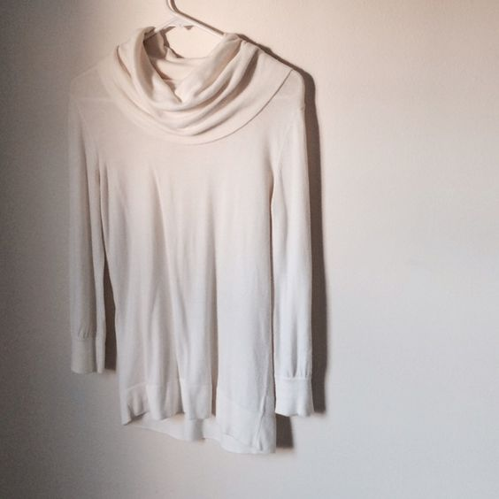 Off White Slouch Neck Sweater Beautiful cream color! Slouched neck for warmth and style. Lightweight material, perfect over white cami, or undershirt. Merona Sweaters