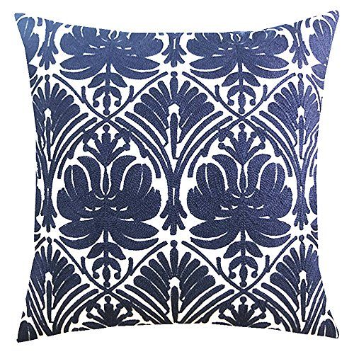 Slow Cow Cotton Embroidery Throw Pillow Cover Geometric Https Www Dp B Decorative Throw Pillow Covers Throw Pillows Embroidered Throw Pillows