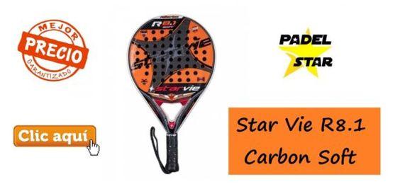 Pala STAR VIE R8.1 Carbon Soft para Prevenir el Codo de Tenista