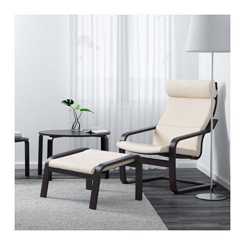 POÄNG Armchair, Glose off white, Seat width: 22