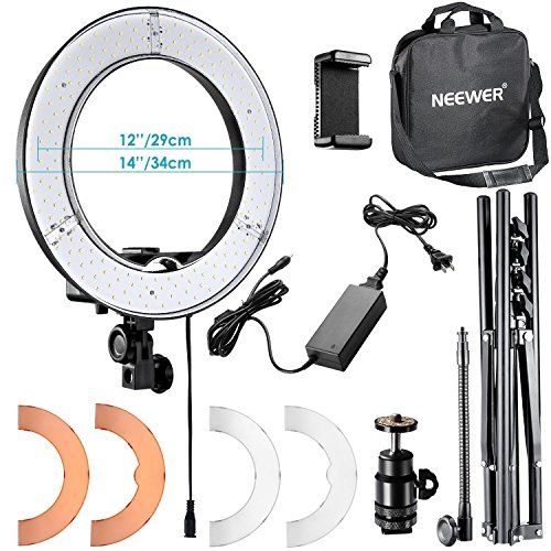 Neewer Rl 12 Led Ring Light 14 Outer 12 On Center With Light Stand Soft Tube Filter Bluetooth Receiver For Makeup Camera Phone Video Shooting Led Ring Light Dslr Accessories Camera Phone