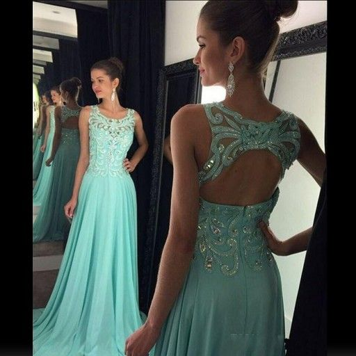 Buy Chic Long Prom Dress - Square A-Line Backless with Embroidery Prom Dresses 2016 under $139.99 only in Dressywomen.