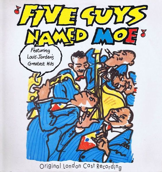 Five Guys Named Moe – Original London Cast Recording – LP Vinyl Record