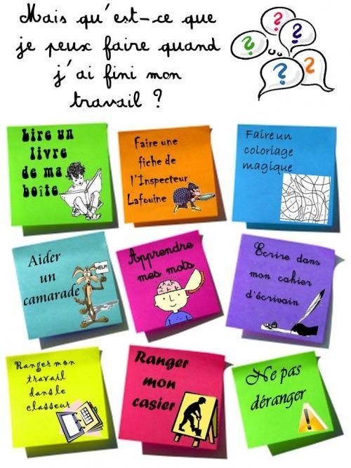 Que Faire Quand J Ai Fini Mon Travail Enseignement Du Francais Gestion De Classe Ressources Pour Enseignants