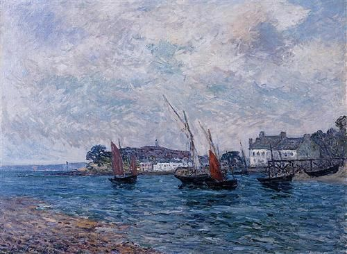 Reentering Port at Douarnenez (Finistere) - Maxime Maufra