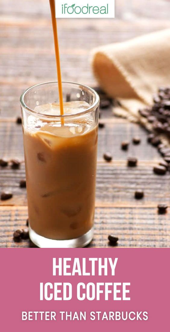 Healthy Iced Coffee Recipe With Almond Milk Sugar Free Low Calorie And Much Cheaper And Healthier Tha Healthy Iced Coffee Coffee Drink Recipes Coffe Recipes