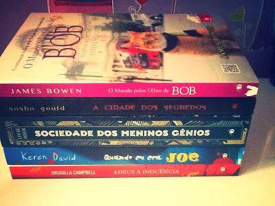 Lombadas dos lançamentos de Fevereiro  da Editora Novo Conceito que recebi para resenha.