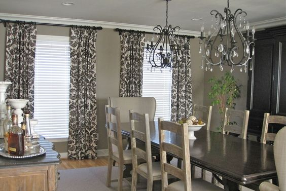 charming dining room drapery ideas and exellent curtain living room drapery ideas dining room traditional with