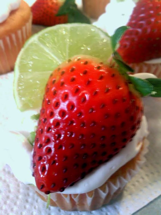 """strawberry margarita cupcakes - """"came out great"""" @allthecooks #recipe"""