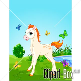 CLIPART BABY HORSE BACKGROUND