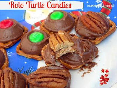 Mommy's Kitchen - Recipes From my Texas Kitchen!: Rolo Pretzel Turtle Candies or {Rudolph Noses}