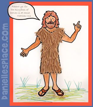 John the Baptist Bible Craft for Kids from www.daniellesplace.com