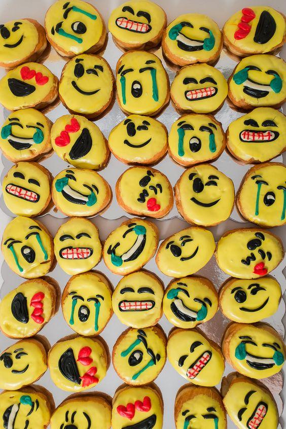 Emoji donuts