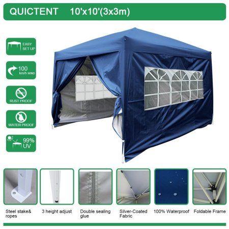 Quictent Silvox 10x10 EZ Pop Up Canopy