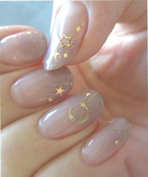 Nails 2019 Art Splendid Nail Polish Color Trend 2018whimsical Cele Star Nail Art Star Nail Designs Stiletto Nail Art