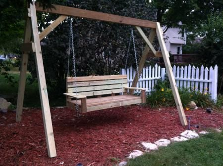 Porch swing do it yourself home projects from ana white for Do it yourself swing