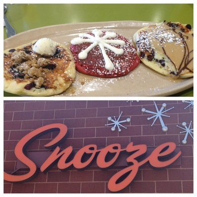 #Snooze is a Colorado brunch institution. It's a socially responsible establishment that offers unique breakfast cocktails and the most amazing pancakes you've ever tasted (or seen!).