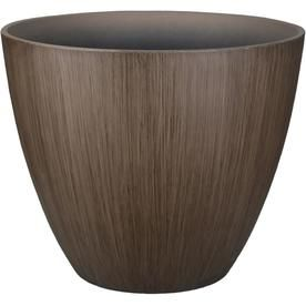 Allen Roth 14 1 In W X 11 34 In H Brown Resin Planter Plr0315bnd Resin Planters Wooden Brush Planters