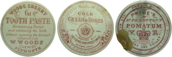 Auction 26 Preview | 831 | Old Red Print Pot Lids