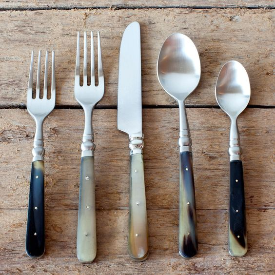 Horn Flatware.  Brand new but made to look vintage;)