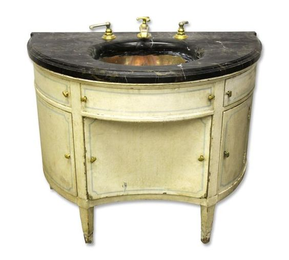 Rare black marble top sink