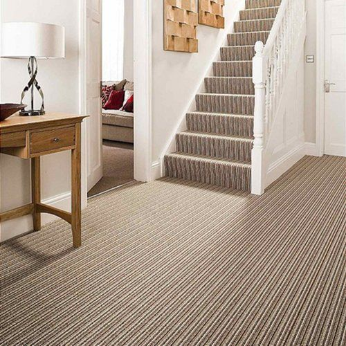Stairscarpets Are Commonly Used In Which The Floors Is Finished With Wall To Wall Carpets At Carpetsabudhabi Co Striped Carpets Carpet Stairs Tiled Hallway